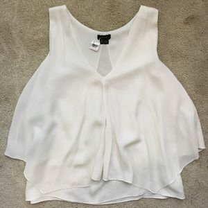 Theory Silk Sleeveless Draping Front Blouse
